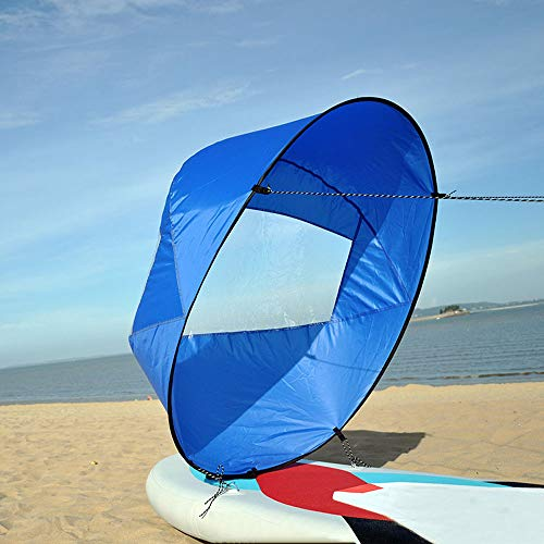"""Deploys Quickly /& Easy Fold Up Downwind Wind Paddle Kayak Sail 42/"""" Large"""
