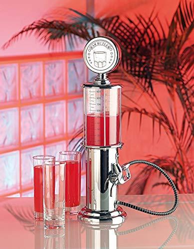 Monsterzeug Zapfsäule für Getränke mit Schlauch und Zapfhahn, Bar Accessoires, Retro Getränkespender, Bar Butler