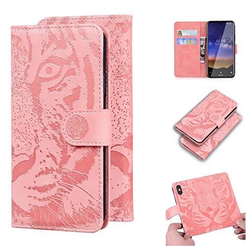 Hülle für Nokia 2.2 Hülle Handyhülle [Standfunktion] [Kartenfach] Schutzhülle lederhülle klapphülle für Nokia2.2 - DETX010606 Rosa