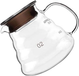 Baosity Pour Over Glass Range Coffee Server 250ml 360ml 600ml 800ml Carafe Drip Coffee Pot Coffee Kettle Brewer Barista Pe...