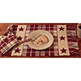 The Country House Collection Burgundy Farmhouse Star Placemat - Set of 4