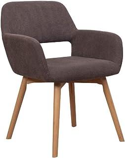 FDN Cocina Estilo Vintage Dining Chairs,para Sillas de Comedor Y Sala de Estar Sillas de Cocina de Madera Terciopelo Sillón De Relajación Sillas de Comedor (Color : Brown)
