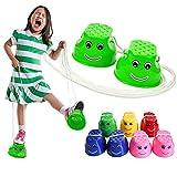 Monbedos - Échasses en plastique pour enfants (couleur aléatoire)