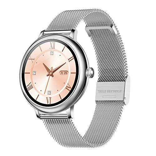 Smartwatch Mujer, Reloj Inteligente Deportivo Pulgadas Completa IP70, Monitor de Sueño, Seguimiento del Menstrual, Control de Musica, Regalo Navidad