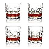 SZMMG - Set di bicchieri da whisky da 170,1 – 326,0 g, in vetro antiquato, rocce da barware per scotch, borbone, liquore e cocktail, regalo perfetto per gli amanti del whisky