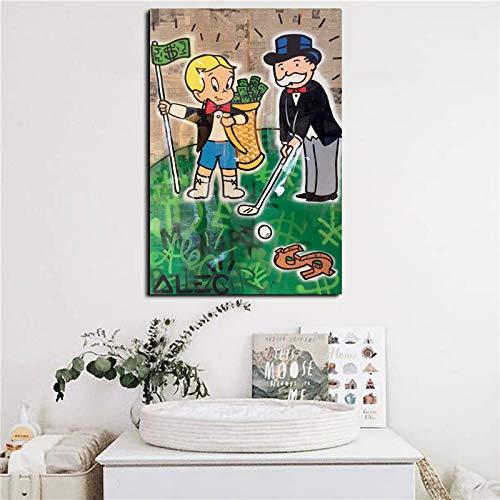Geiqianjiumai Goyard Golf HD canvas, bedrukt, woonkamer, decoratie van het huis, moderne muur, kunst, olieverfschilderij, foto, zonder lijst, schilderij