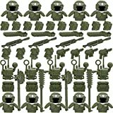 Goshfun 52Pcs Medieval Ancient Rome Egypt Modern Style Figure Weapon Shield Helmet Armor Set, Small Particle Building Block Toy Kit Compatible with Mainstream Brand