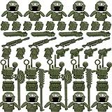 ITop Militar Armas Set, 55 Piezas Juego de Militar Armas Figuras Kit de Armadura de Casco Compatible con Lego Minifiguras