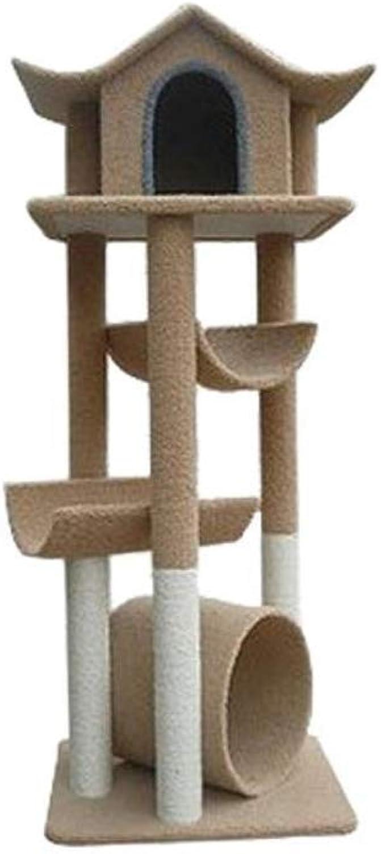 Dixinla Cat climbing frame Pet Supplies cat toys plush cat nest environmentally friendly no smell 60  70  152 cm