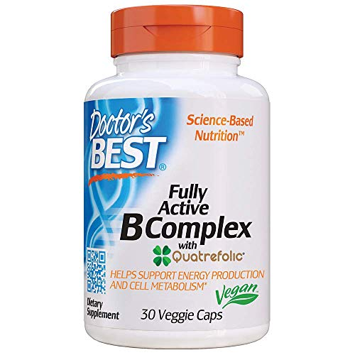 Doctor s Best Fully Active B-Complex with Quatrefolic- 30 vcaps 30 Unidades 40 g