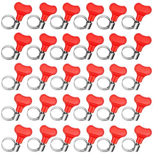 30 Stücke Bier Leitungsklemmen Schlauchklemmen Wurm Getriebeklemmen Einstellbare Edelstahl Klemme Schlauchschellen Edelstahl Rohrschellen für Zuhause Küche Lieferungen