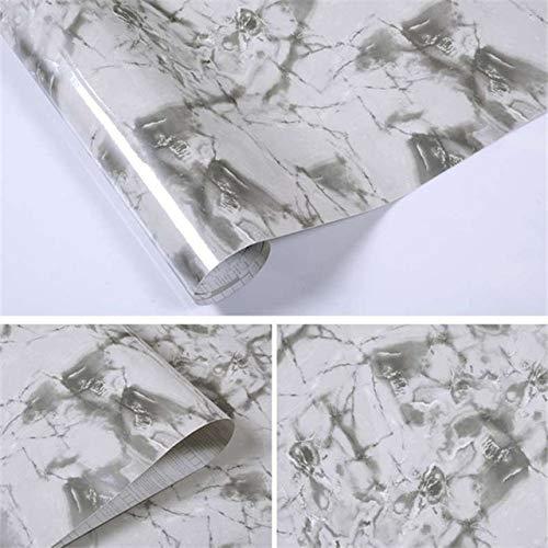 LZYMLG Selbstklebende Marmortapete wasserdicht und ölbeständig Vinyltapete für Küche, Tisch, Herd, Schrank und industrielles Dekor C