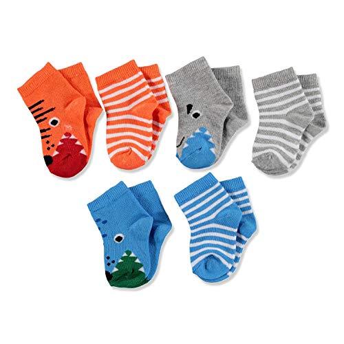 ebebek HelloBaby 6 Paar Bunte Baby Socken aus Baumwolle für Baby Junge und Mädchen Neugeborene Säugling Kinder, Perfekt für Baby Erstausstattung