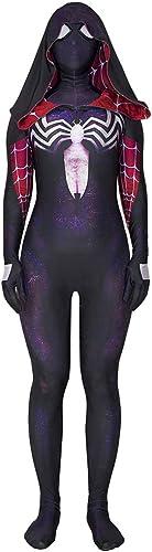 SDKHIN Spiderman Cosplay Strumpfhosen Venom Lila Umhang Lycra Damen Spiel Kleidung Spiel Anime Cosplay,Purple-XXXL