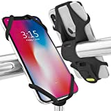 Bone 【日本正規総代理店】 Bike Tie 2 自転車 スマホ ホルダー ハンドル用 超軽量 全シリコン製 脱着簡単 脱落防止 4-6.5インチのスマホに対応 iPhone 11 Pro Max XS XR X 8 7 6S Plus Xperia ZX3 Galaxy S10 S9 S8 note 9 Pixel 3 XL TorqueG03 (ブラック)