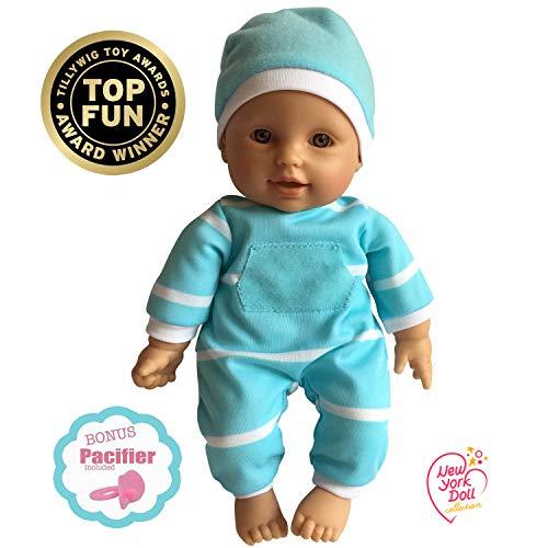 The New York Doll Collection 11 Zoll /28cm Hispanic weich Körper Puppe im eschenkkarton (Bonus Schnuller inklusive)