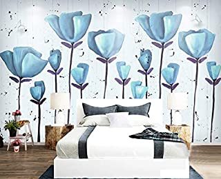 3D Murals Decorations Wall Wallpaper Stickers Vintage Flower Living Room Leather Art Kids Room (W)200x(H)140cm