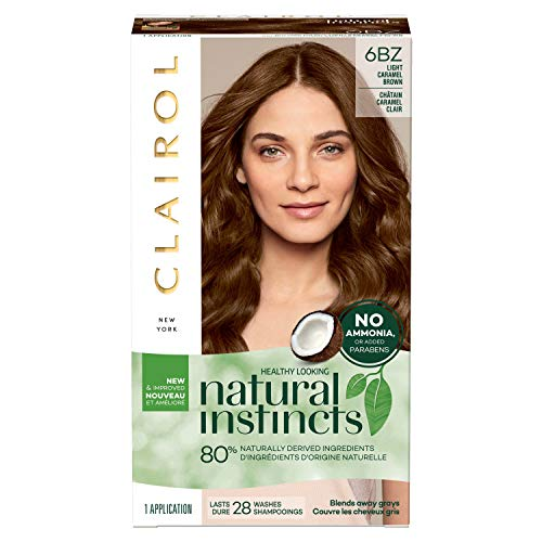 Clairol Natural Instincts Semi-Permanent Hair Color, 6BZ Light Caramel Brown, Autumn Bronze, 1 Count Clairol