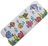 Magic Ideas rutschfeste Kinder Badewannenmatte - Schimmelresistent Handwaschbar Antirutschmatte mit Motiven für Babys - Extra Lange Duschmatte für Badewannen 100 x 40 cm
