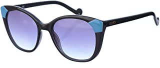LIU JO Women's Sunglasses Rectangular Liu Jo Black/Azure/Grey
