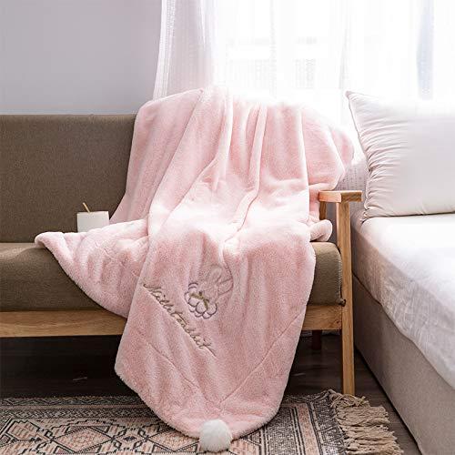 Stafeny Manta de piel de conejo sintética (suave y delicada) color gris cálida y sin estática se aplica a la manta de forro polar interior también se puede utilizar como toalla de baño (100 x 150 cm)