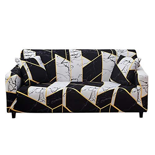 HOTNIU Elastischer Sesselbezug Stretch Sofa-Überwürfe Sofaüberzug Sesselhusse Sofabezug Sofa Abdeckung Hussen für Couch Sessel in Verschiedene Größe und Farbe (4 Sitzer, Pattern SK)
