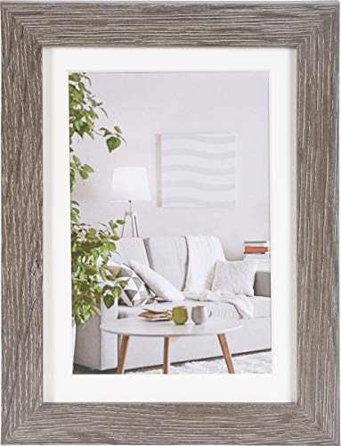 Henzo Modern Bilderrahmen, Holz, grau, 13x18 cm