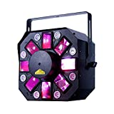 American DJ Stinger II | 6 x5 watt RED, Green, Blue, Amber, White, and Pink LED. DMX, Sound Active, and IR Control