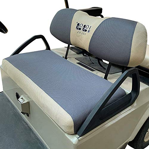 10L0L Golf Cart Seat Covers for Club Car DS Precedent & Yamaha, Washable Breathable Air Mesh Cloth for Summer and Winter - Gray