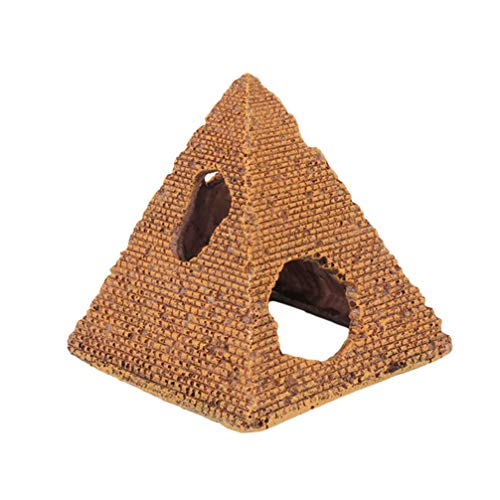 Balacoo Piramide Egizia Resina Acquario Ornamento per Pesci Gamberetti Habitat Acquario Decorazione del Paesaggio Dimensioni S
