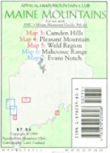 Camden/Pleasant/Weld--Mahoosucs/Evans Notch: Maine Mountain Guide Map