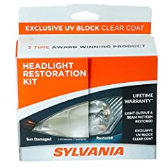 RESTORES HEADLIGHT TO A LIKE-NEW APPEARANCE & REMOVES HAZE: Headlight lenses on your vehicle can become yellow, dull, and hazy from the sun. Our Headlight Restoration Kit fully removes haze and corrosion and restores the clarity and shine you need to...