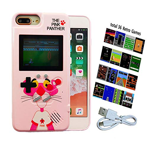 Gameboy case for Kids, Handheld Game Console Case with 36 Built-in Games, Game Phone Case for iPhone 6/6S/7/8