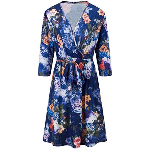 ATGTAOS herfst V-hals afgesneden mouwen jurk