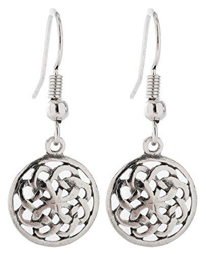 Pewter Irish Earrings Celtic Jewelry (Celtic Knotwork)