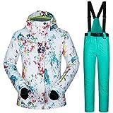 LeKing Tuta da Sci per Donna Inverno Caldo Traspirante Impermeabile Antivento Giacca da Sci Sport Pantaloni Set