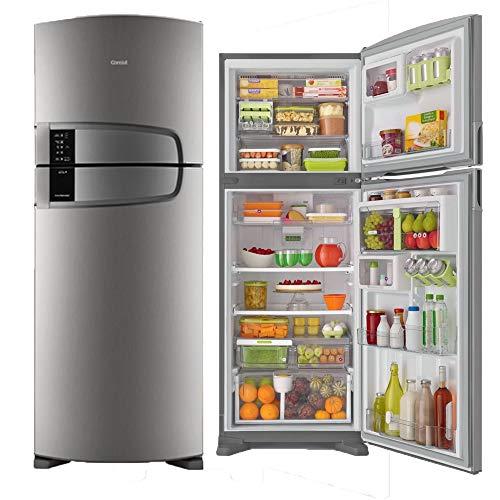 Geladeira Consul Frost Free Duplex 437 litros cor Inox com Horta em Casa 110V