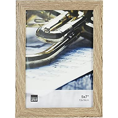Kiera Grace Linear Picture Frame, 5 by 7 Inch , Driftwood Grey