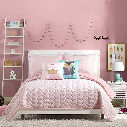 Urban Playground QUILT SET, FULL/QUEEN, HELAINE PINK