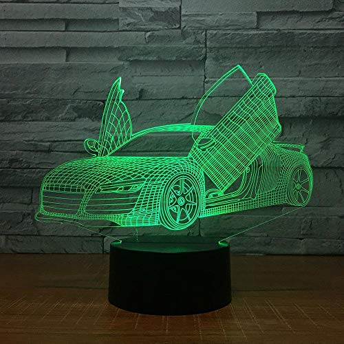 LED schaar 3D Super Sports Lights 7 kleuren Night Lights Kids Touch USB Table Sleep Night Lights Festival Kerstmis