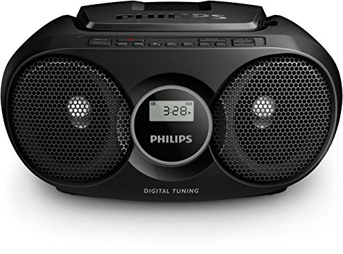 Philips AZ215B CD-Soundmachine (Digital UKW, Audioeingang, 3 Watt, leicht bedienbar) schwarz