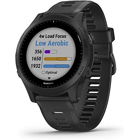 Garmin 010-02063-00 Forerunner 945, Premium GPS Running/Triathlon Smartwatch with Music, Black
