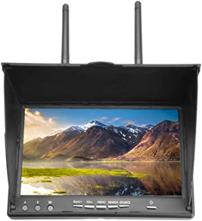 Yencoly Portable Laptop Computer Monitor,5.8GHz 40Channels 7Inch LCD Screen Receiver Monitor for FPV Drone Quadcopter Monitor Wireless Receiver