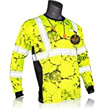 KwikSafety (Charlotte, NC) RENAISSANCE MAN UNCLE WILLY'S WALL Long Sleeve (w/POCKET) Class 3 ANSI High Visibility Safety Shirt Tape Construction Security Hi Vis Clothing Men | Yellow Black Medium