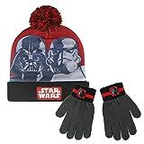 Cerdá-2200002556 Star Wars Set de bufanda, gorro y guantes, Color gris (gris 001), One Size (Tamaño del fabricante:Única) (2200002556-001)