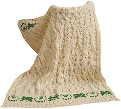 100% Merino Wool - Baby Blanket a Bedding Kid's Throw Sheep Luxury goods Seattle Mall with