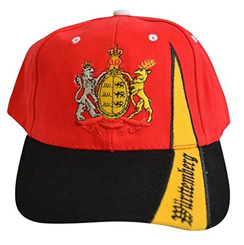 Flaggenfritze Kappe Motiv Deutschland Königreich Württemberg Fahne, fan - Cap mit württembergischer Fahne