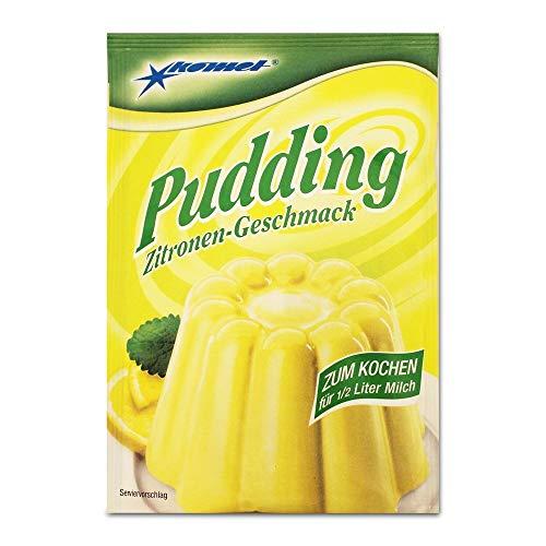5er Pack Komet Pudding Zitronen-Geschmack (5 x 40 g) zum Kochen, Puddingpulver Dessert Puddingdessert