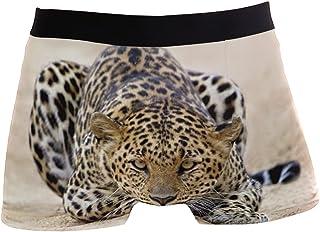 hengpai Hunter Leopard Before Jump Prints Men's Boxer Briefs Soft Underwear Covered Waistband Short Leg