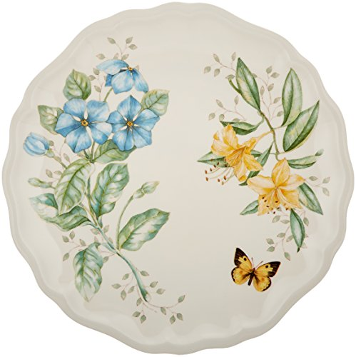 Lenox Butterfly Meadow Melamine Dinner Plate, White